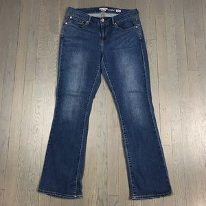 Levi's Denizen Curvy Skinny Boot Cut Denim Jeans
